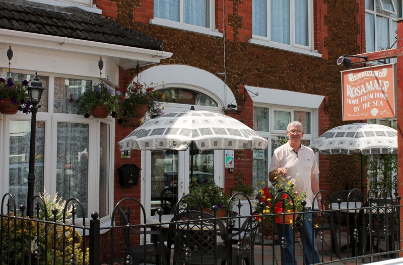 Bob with hanging baskets